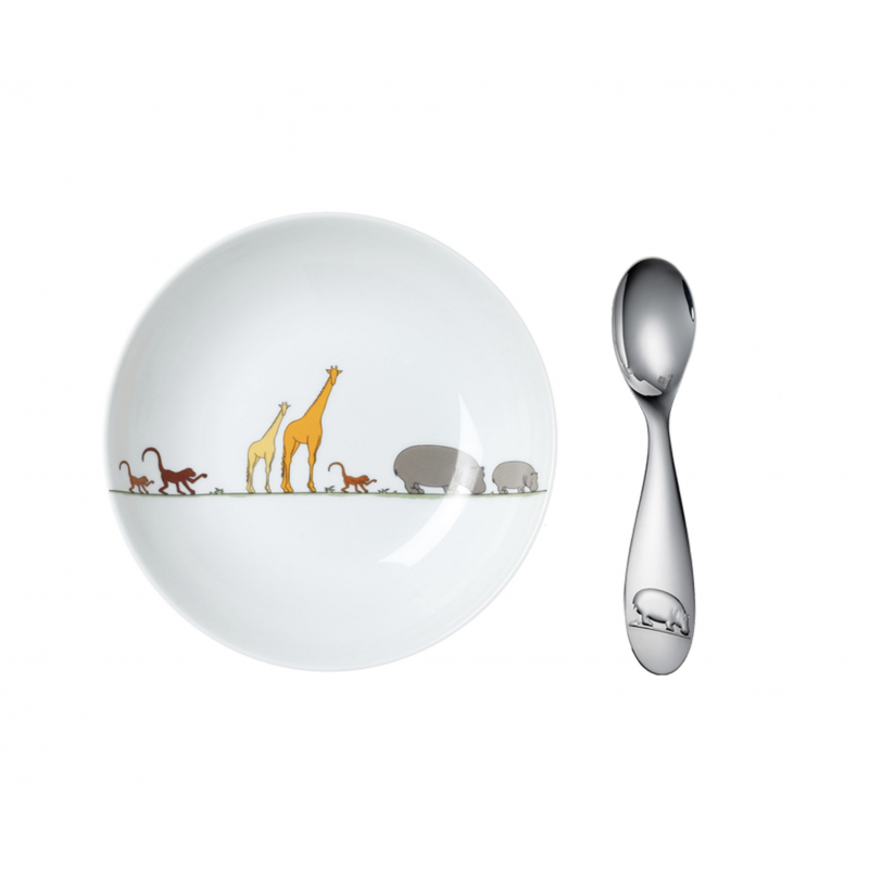 Savane Baby Cereal Bowl and Spoon Set