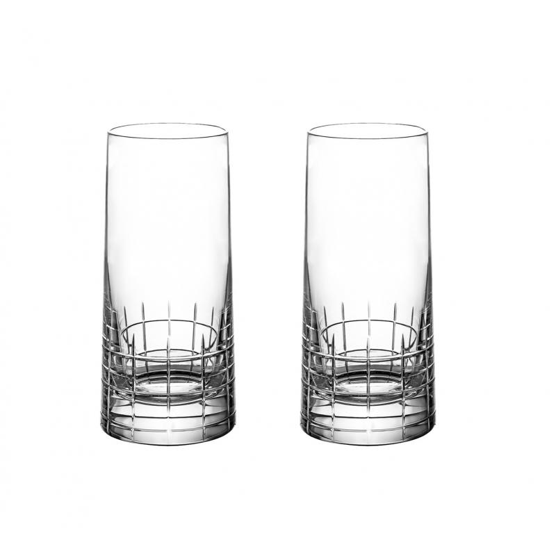 Graphik  Crystal Highball Glass - Set of 2