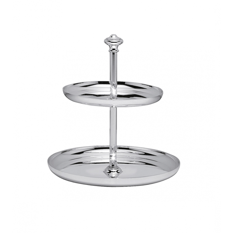 Albi Silver-Plated Two-Tiers Dessert Stand