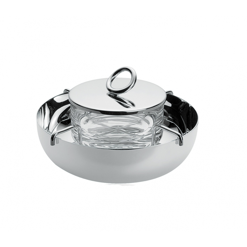 Vertigo Silver-Plated Caviar Serving Set 14 cm