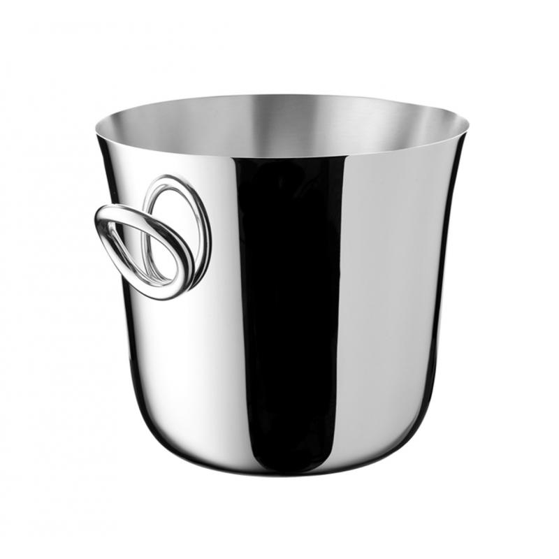 Vertigo Silver-Plated Champagne Cooler Bucket