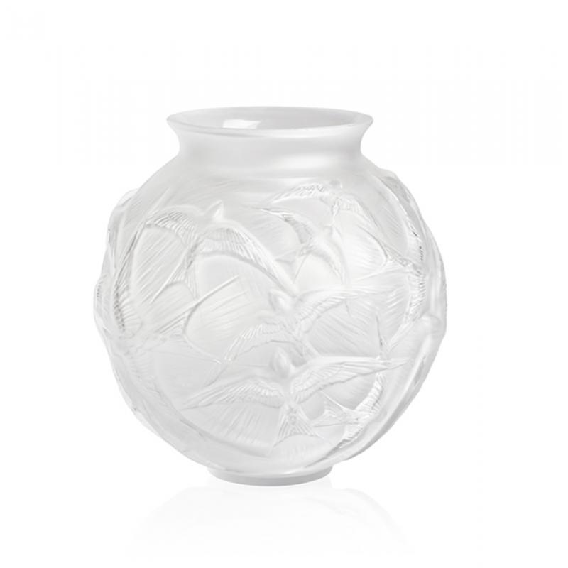 Hirondelles Vase Clear Medium Size