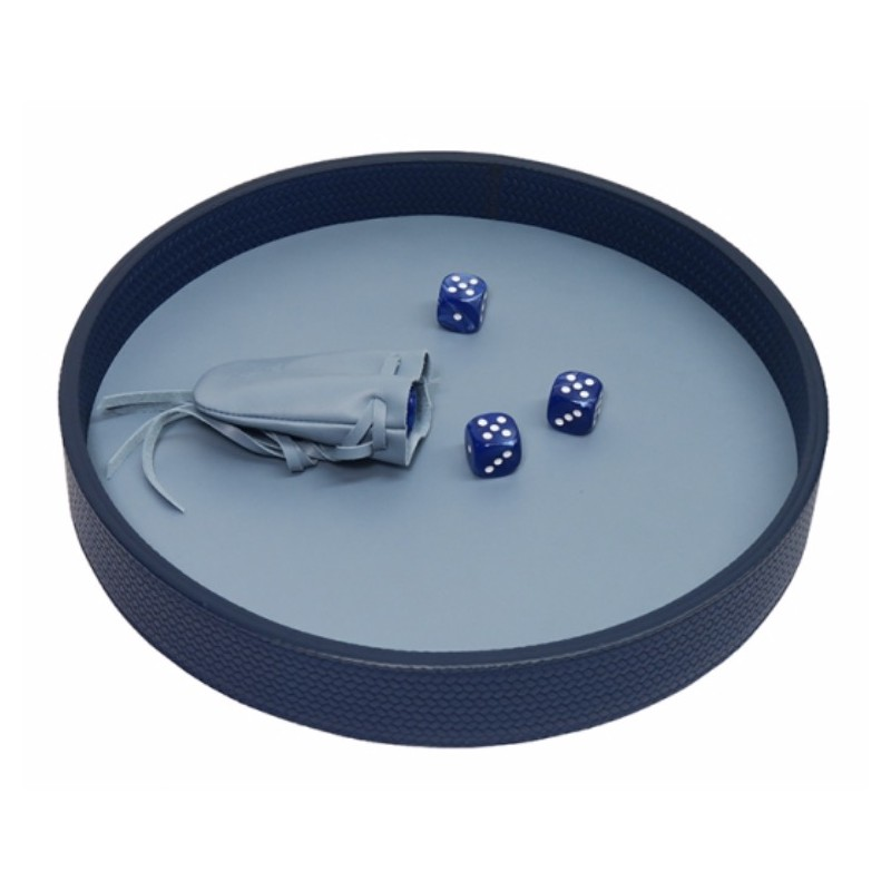 Dices Board Couture Leather Blue