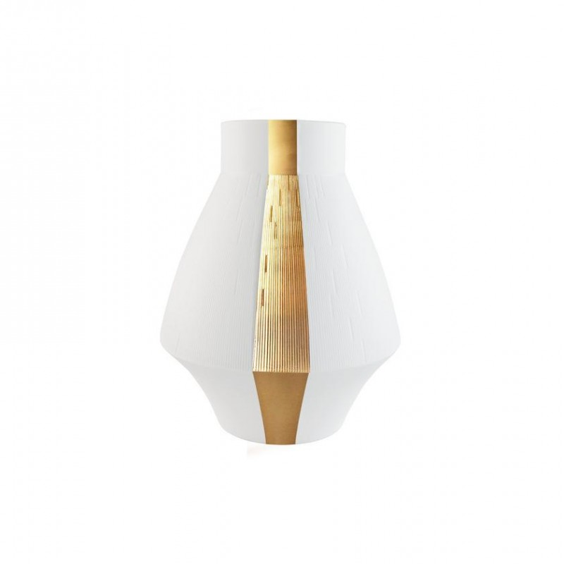 Infini Small Vase with 2 Gold Bands