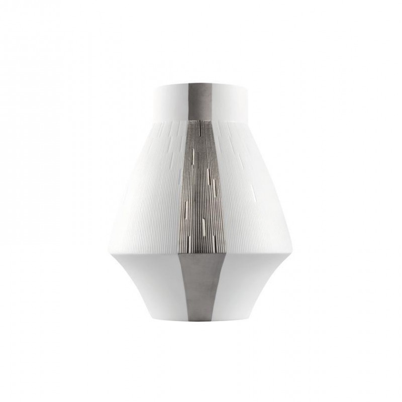 Infini Small Vase with 2 Platinum Bands
