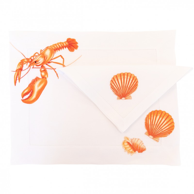 Lobster Placemat and Napkin