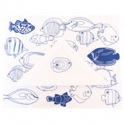 Placemat and Napkin Fish...