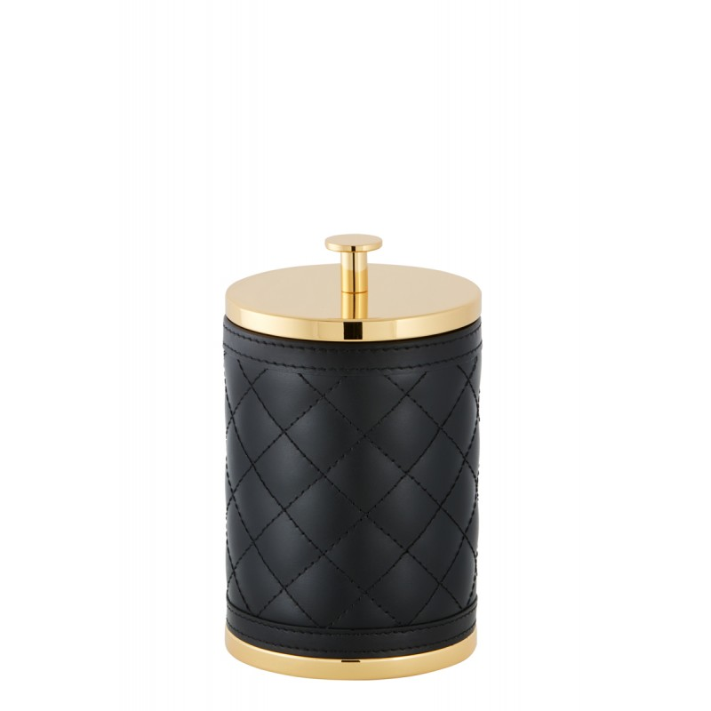Large Round Box Black