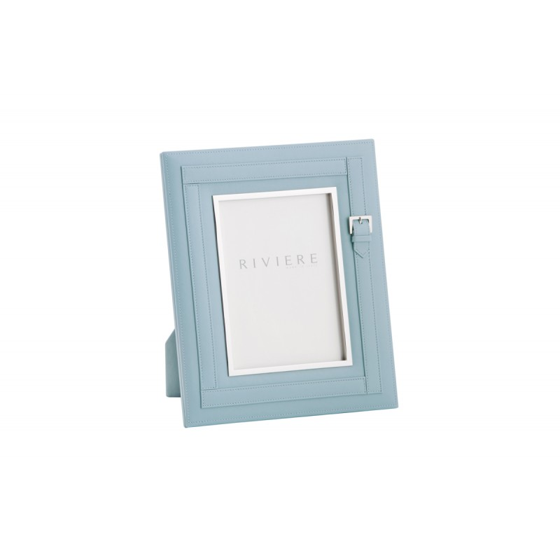 Leather Frame Blue
