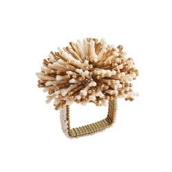 Sunburst Napkin Ring Ivory...