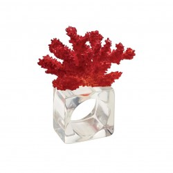 Coral Reef Napkin Ring Red