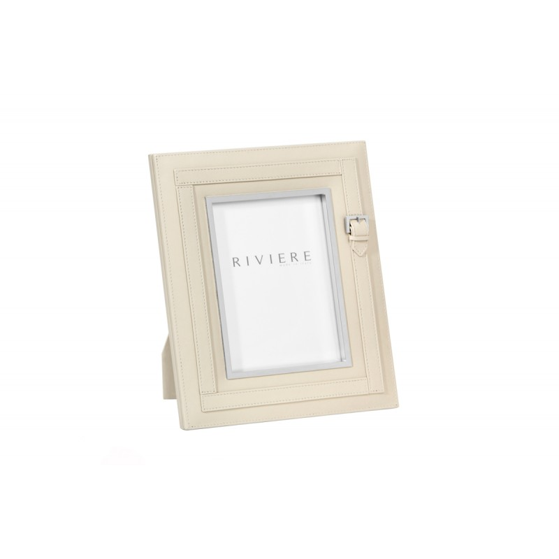 Leather Frame Ivory