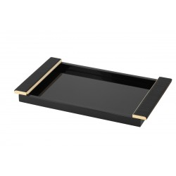 Laquered Tray with Leather...