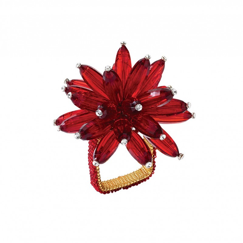 Constellation Napkin Ring Red