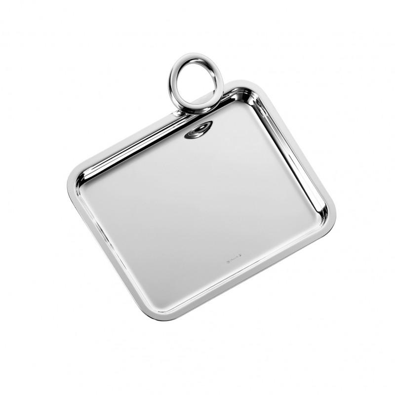 Vertigo Silver Plated Single-Handle Tray