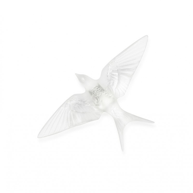 Swallow Wings Down Wall Sculpture Clear