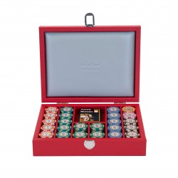 Poker Set Buffalo Leather Red