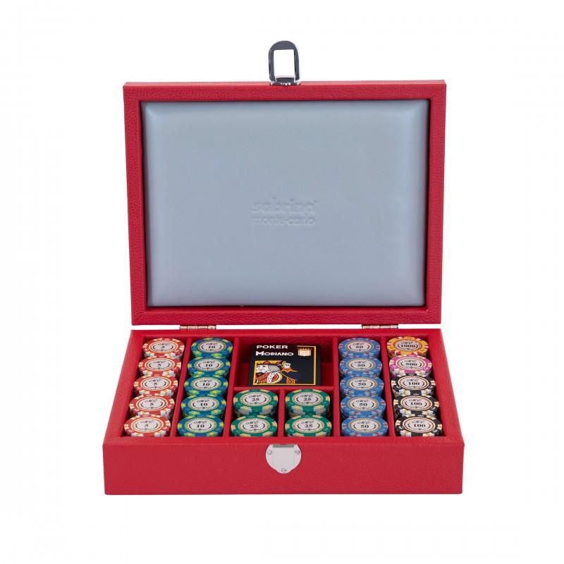 Poker Set Buffalo Leather Red