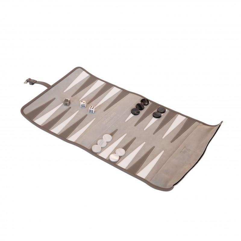 Backgammon Travel Set Grey