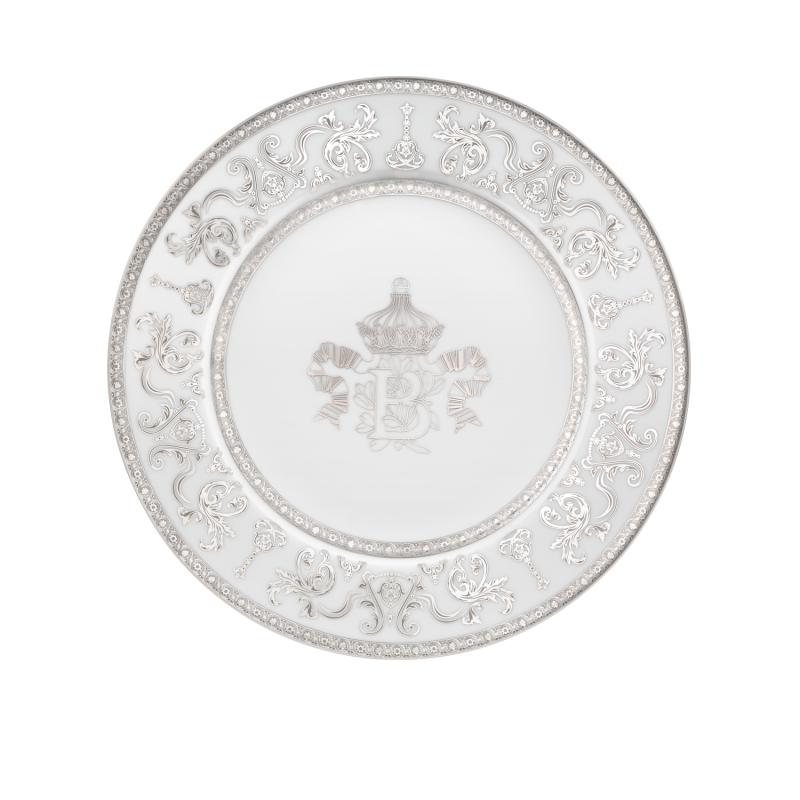 Couronne Impériale Presentation Plate White and Platinum