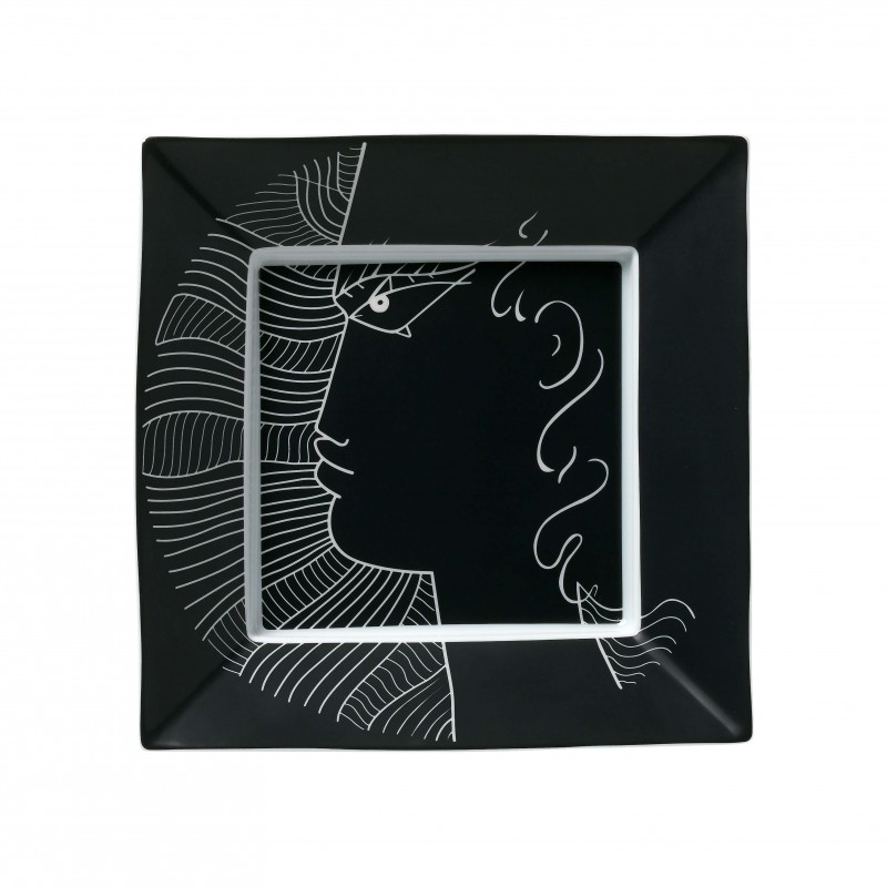 Jean Cocteau Square trinket tray