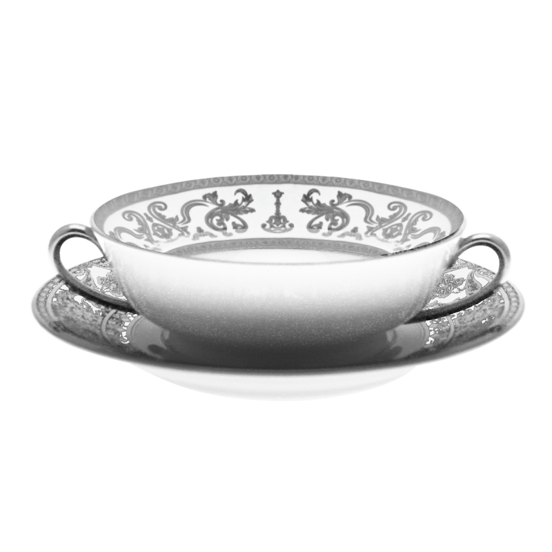 Couronne Impériale Soup Bowl and Saucer