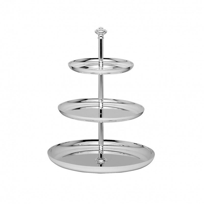 Albi Silver-Plated Three-Tiers Dessert Stand