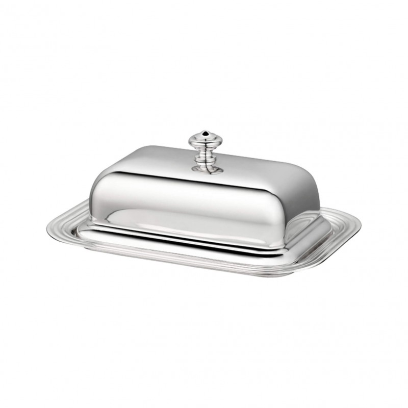 Albi Silver-Plated Lidded Butter Dish