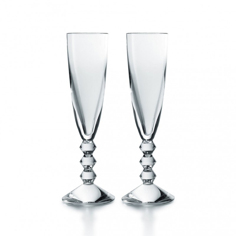 Set of 2 Véga Flutes Clear