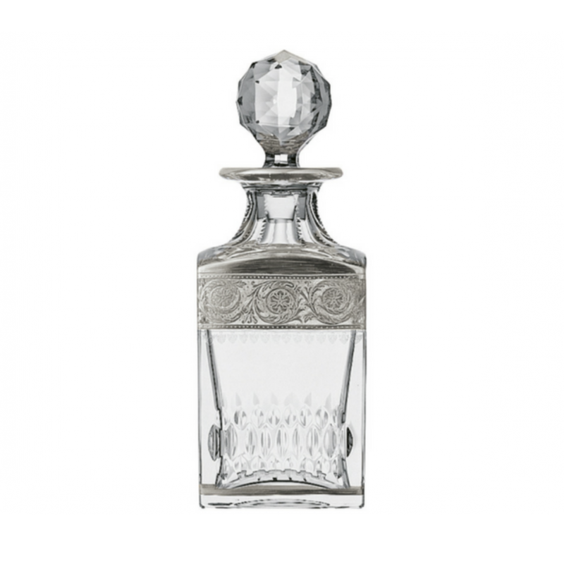 Thistle Platinum Square Decanter
