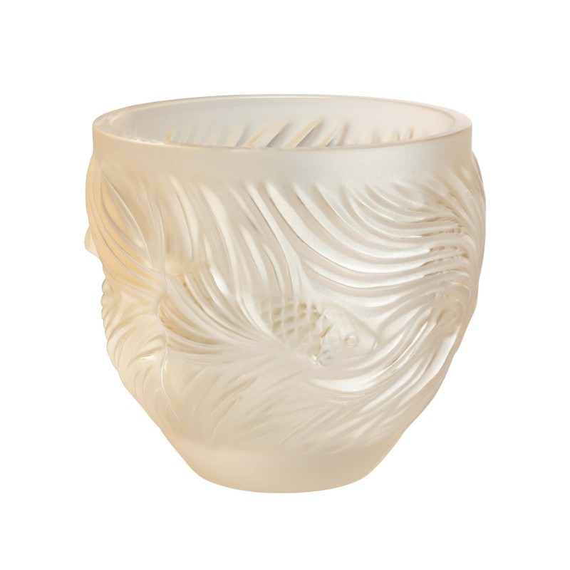 Fighting Fish Candle Holder Gold Luster