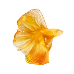 Large Fighting Fish Amber