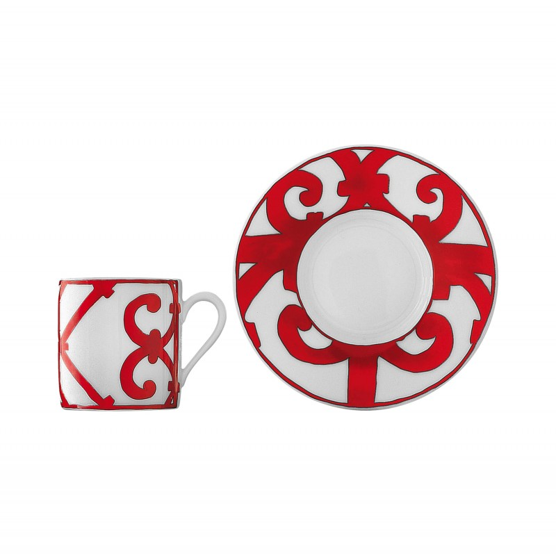 Balcon du Guadalquivir Coffee Cup and Saucer - Set of 2