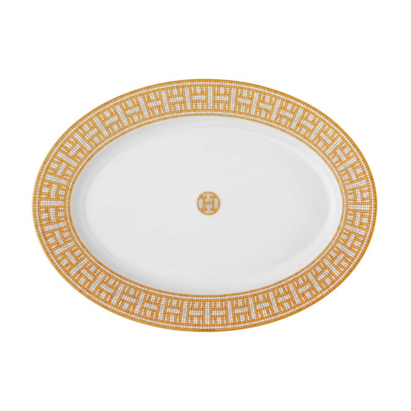 Mosaïque au 24 Gold Small Oval Platter