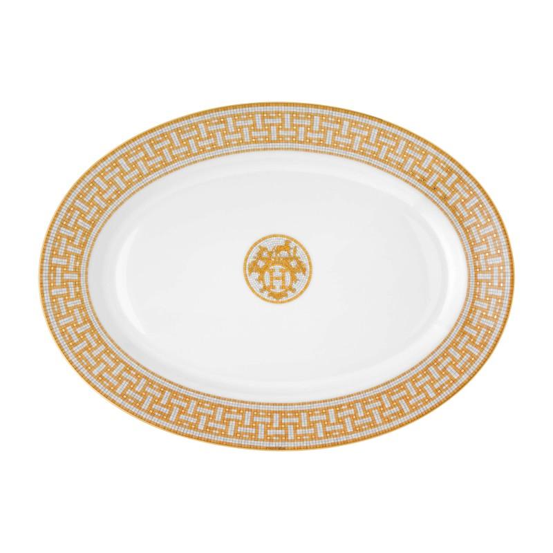 Mosaïque au 24 Gold Large Oval Platter