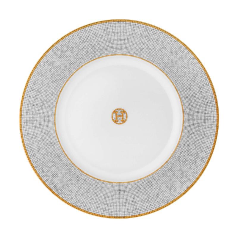 Assiette de Présentation Mosaique Or - Coffret x2