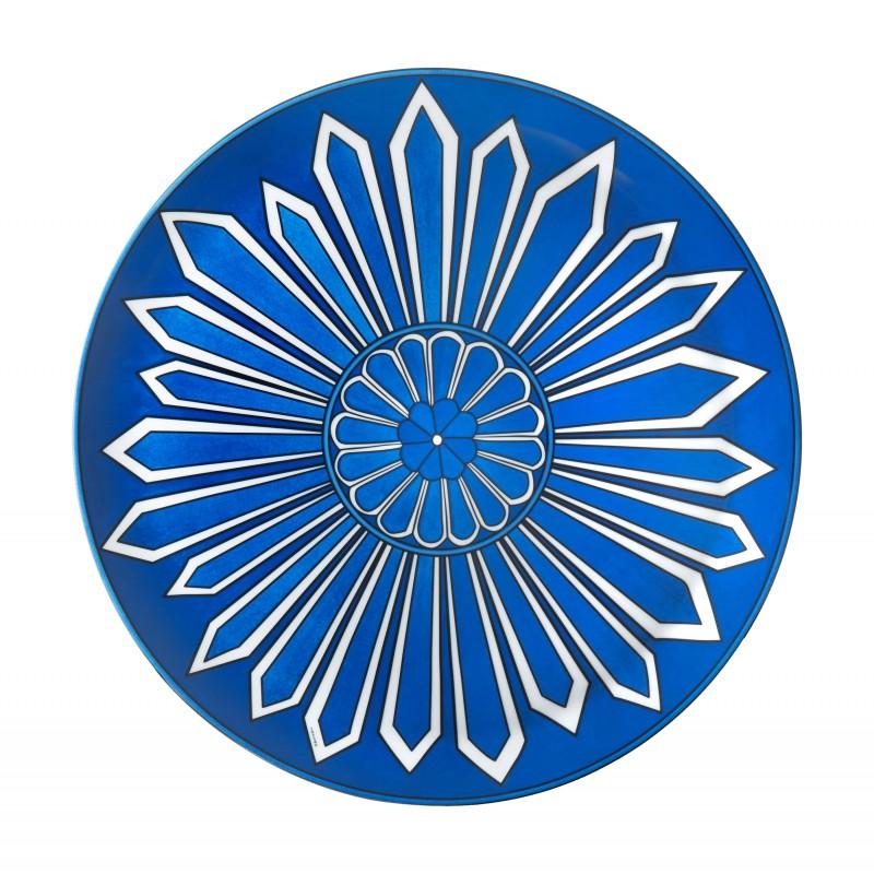 Bleus d'Ailleurs Tart Platter Blue