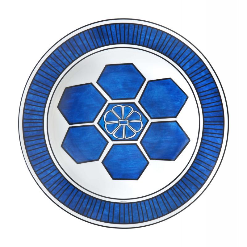 Bleus d'Ailleurs Round Deep Platter Blue