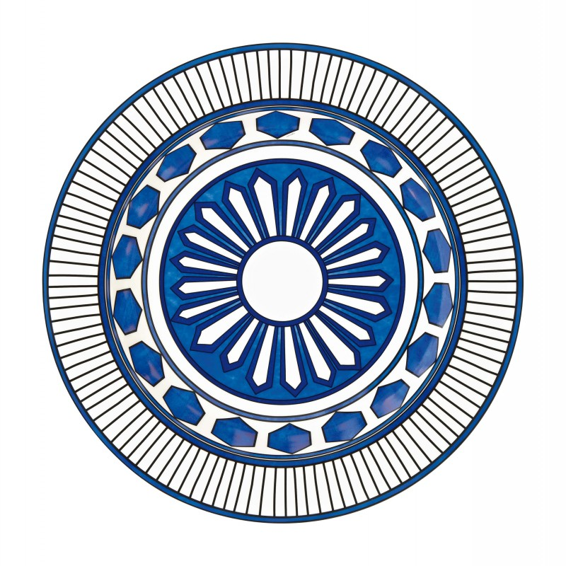 Bleus d'Ailleurs Large Round Deep Platter Blue