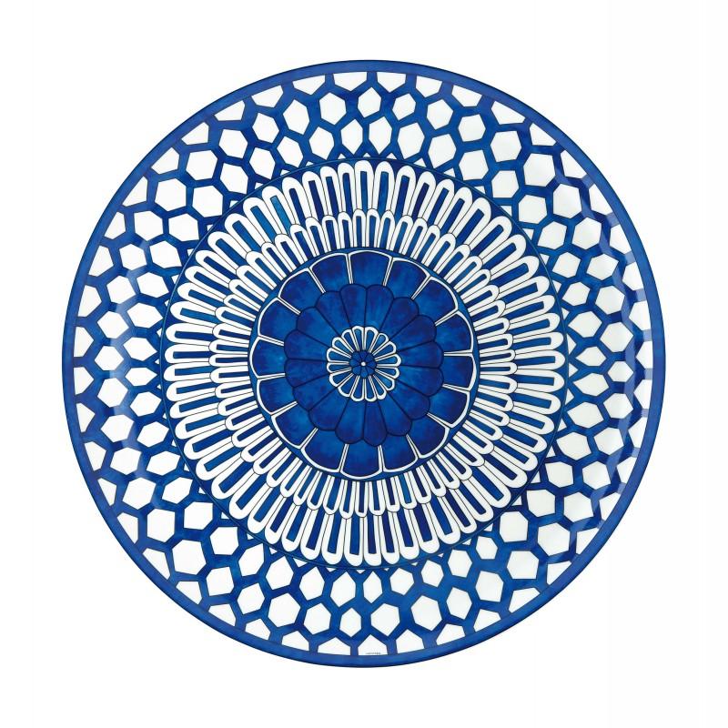 Bleus d'Ailleurs Round Tray Blue
