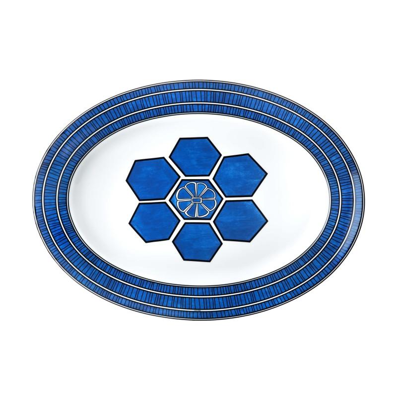 Bleus d'Ailleurs Large Oval Platter Blue