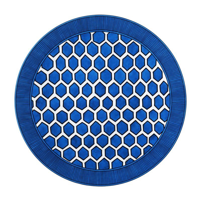 Bleus d'Ailleurs Presentation Plate Blue - Set of 2