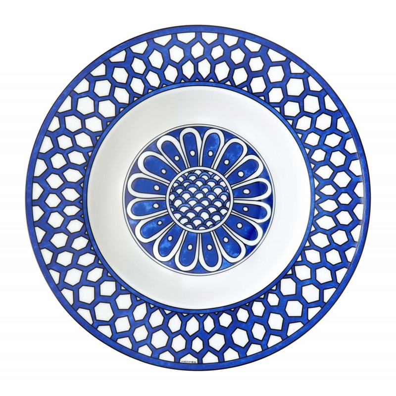 Bleus d'Ailleurs Soup Plate Blue - Set of 2